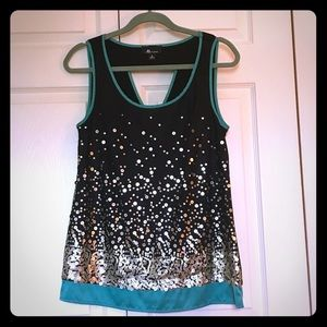 Black and Gold Sequined Top